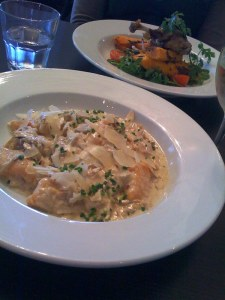 the gnocchi was amazing - and what is it with my lunch dates and duckish preferences?