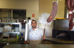 Lorenzo hard at work