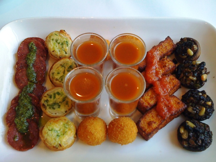 the delectable delights on the tasting plate