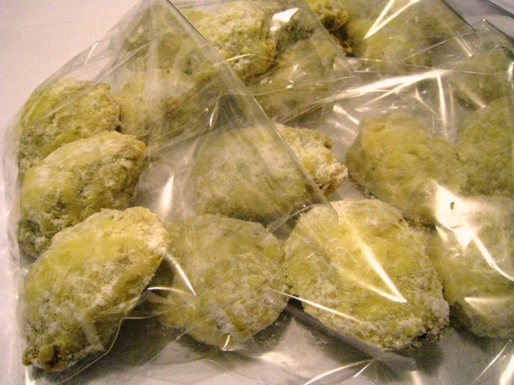 Russian teacakes, wrapped in plastic