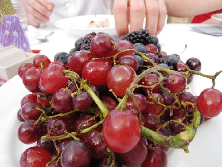 summer berries and grapes