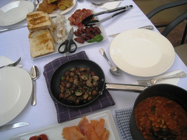 Sunday's tapas-styled breakfast