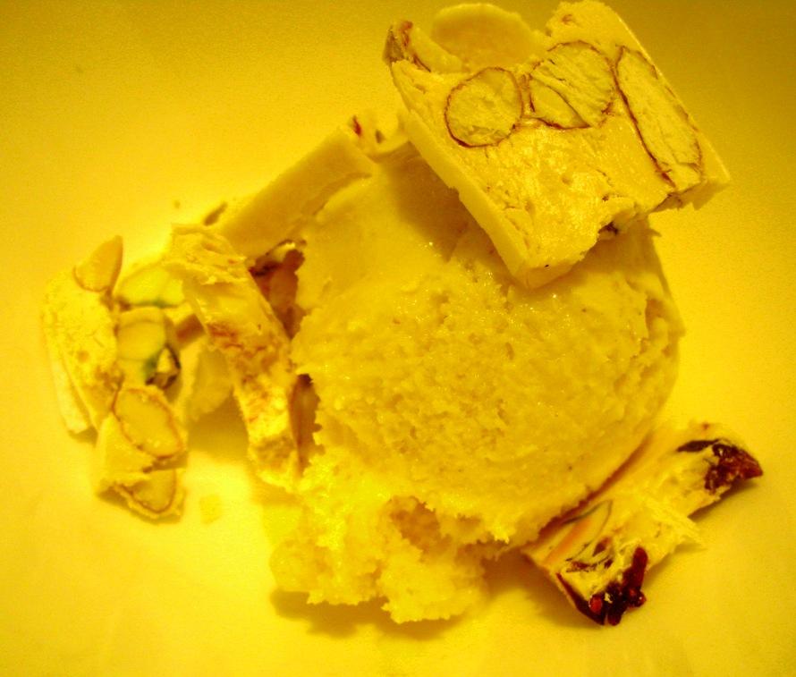 a dessert in sepia tones