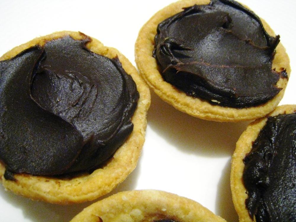 dark chocolate ganache canapes