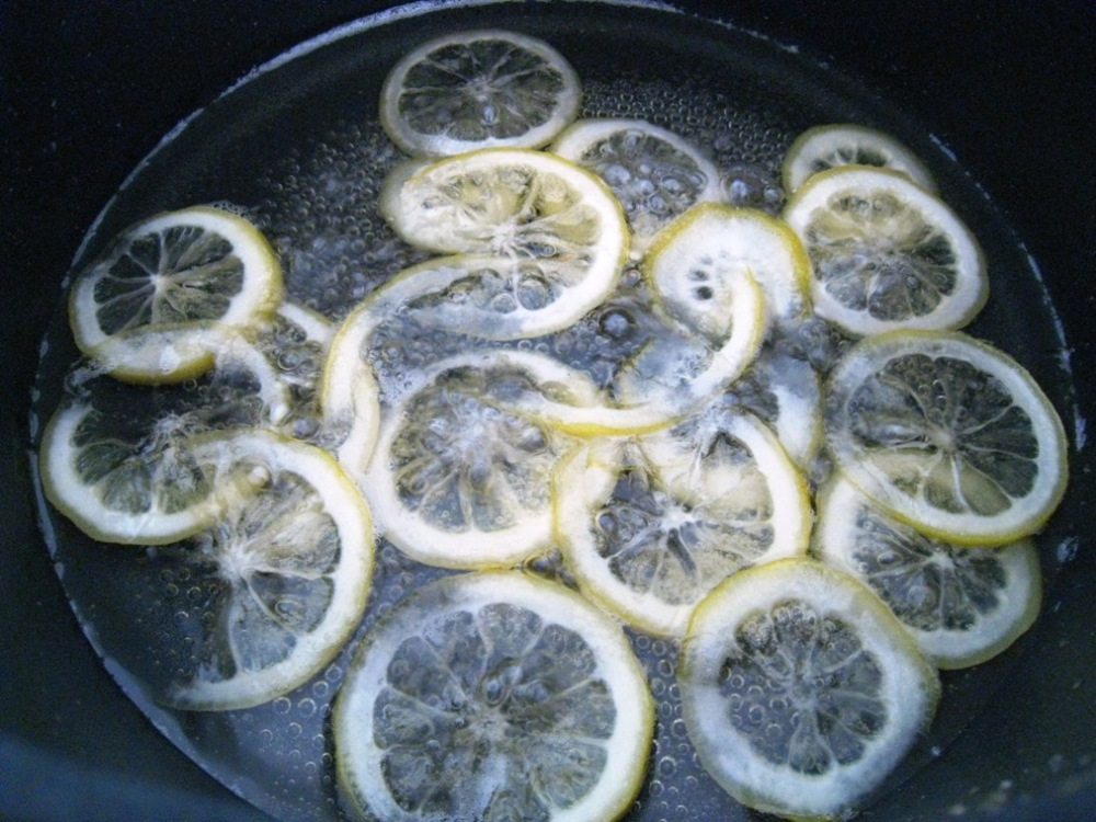candying the lemons