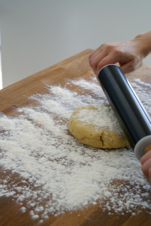 rolling the pastry