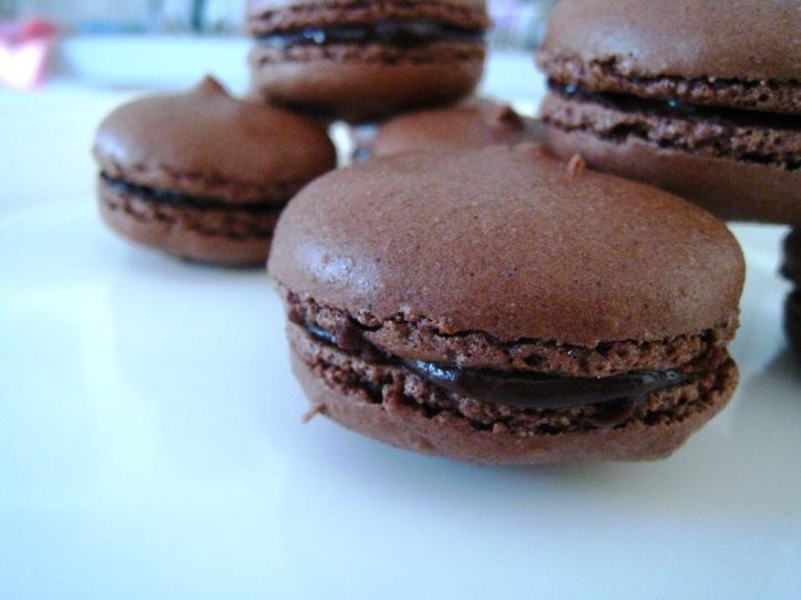 dark chocolate macaroons