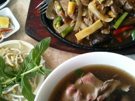 braised beef in szechuan sauce and the perennial pho tai
