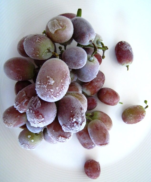 frozen grapes
