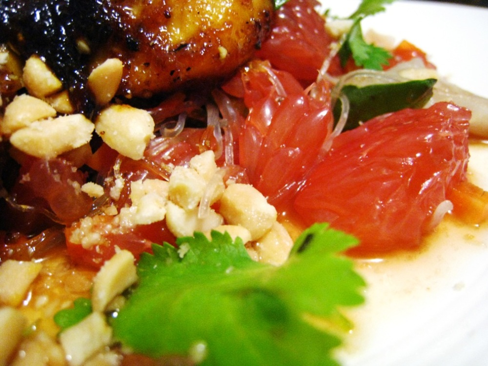 my South-East Asian inspired chicken salad dish was beautiful to look at as well as to taste