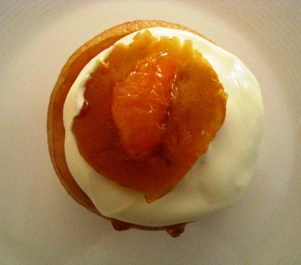 mandarin cupcake with double cream
