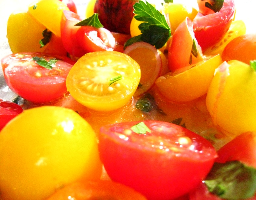 new season tomatoes: such a variety of colours