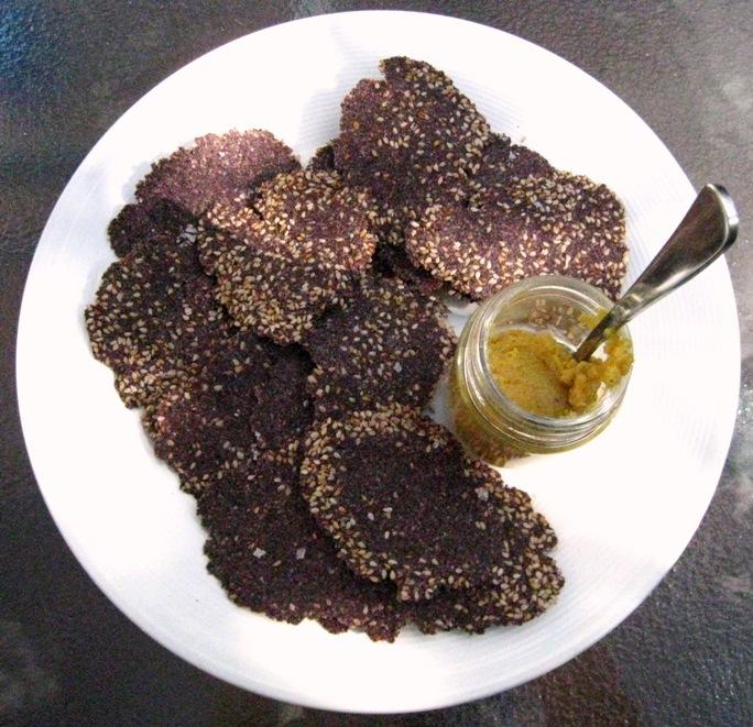chia & purple corn crackers