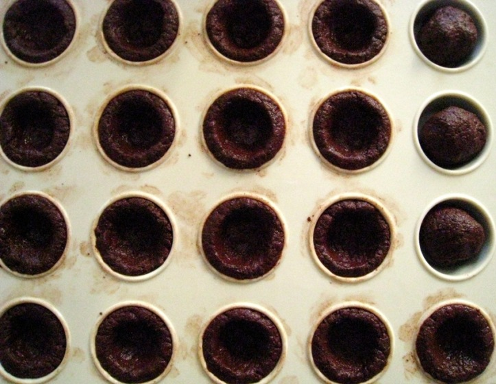 chocolate pastry shells
