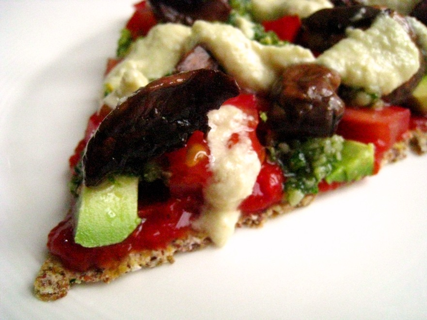 raw pizza slice