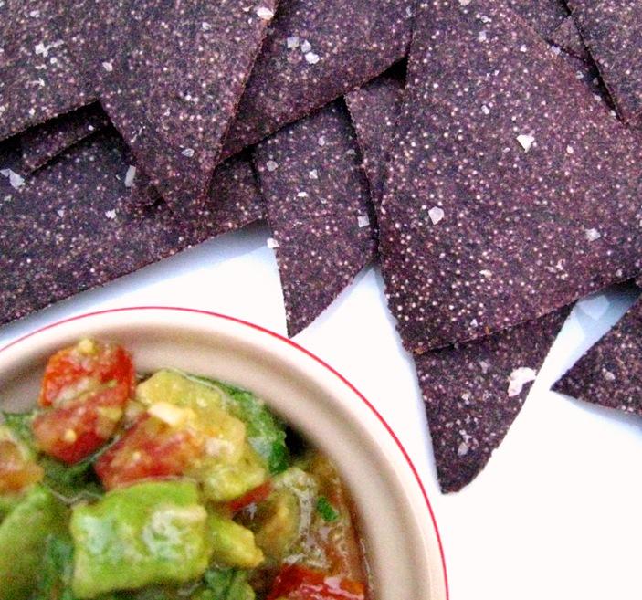 purple corn chips