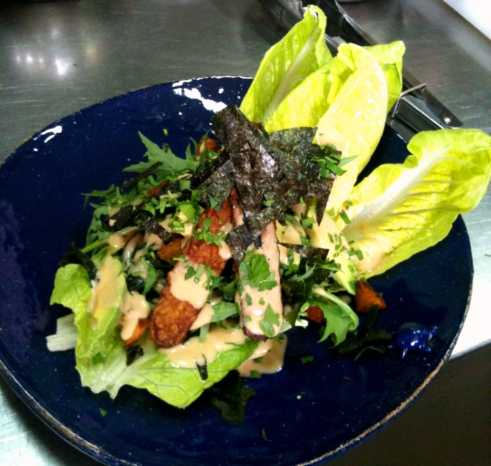 Caesar salad, an individual serve