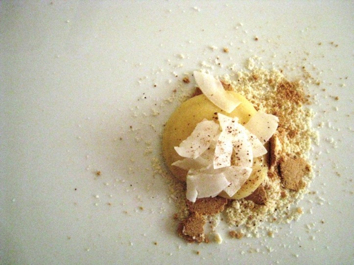 lemon tart...deconstructed