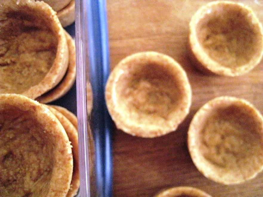tiny almond pastry cases
