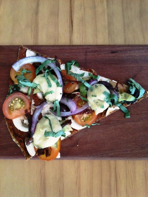 rawlicious pizza