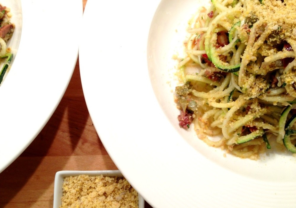 raw pasta puttanesca