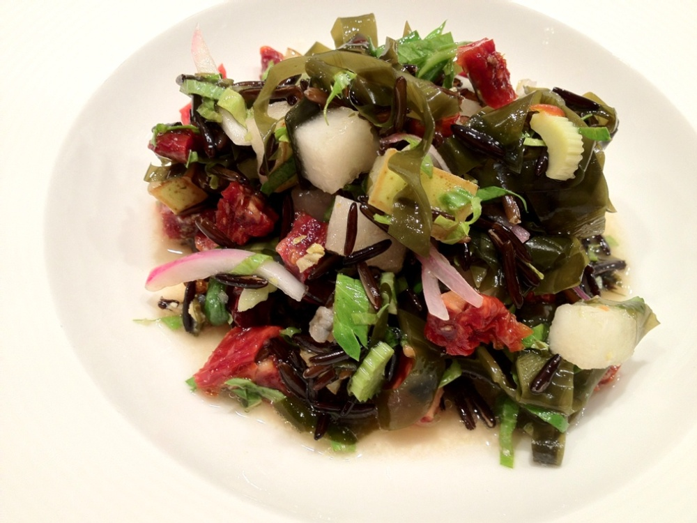 wild rice salad with alaria