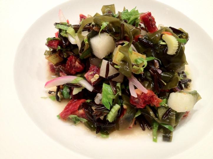 wild rice salad with alaria