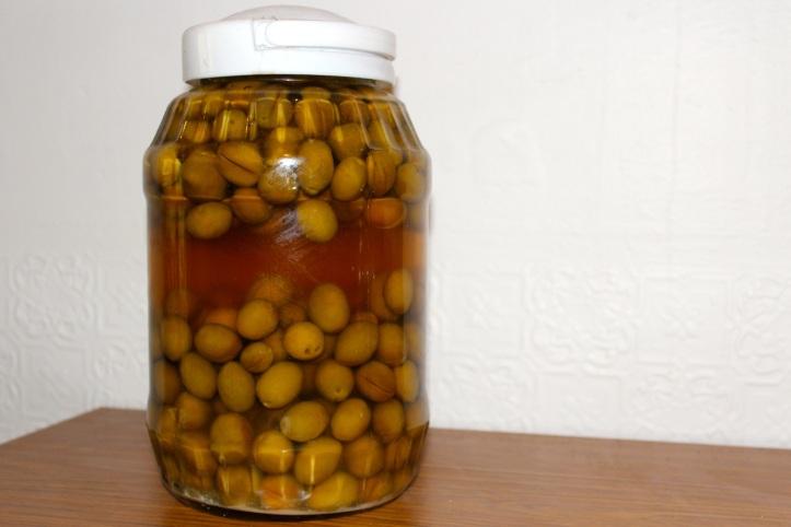 olives in jar