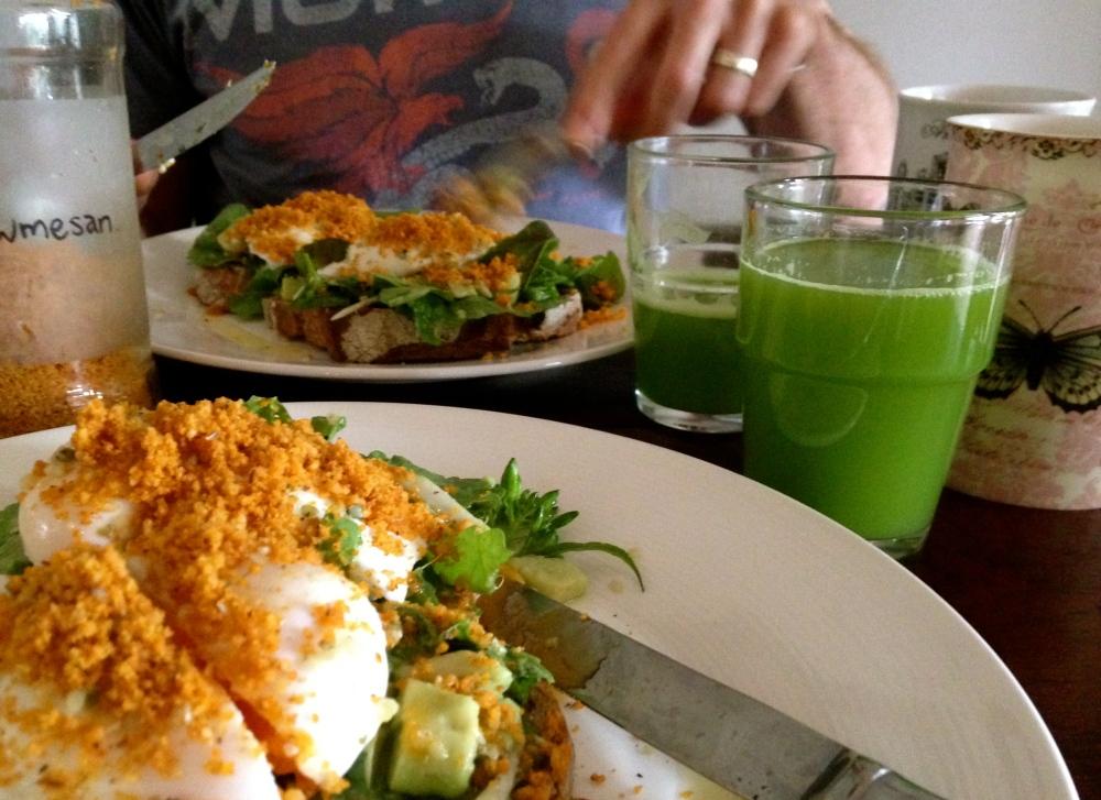 eggs & daikon salad